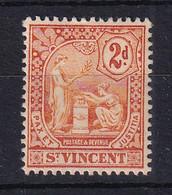 St Vincent: 1907/08   Emblem    SG96     2d      MH - St.Vincent (...-1979)