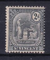 St Vincent: 1909/11   Emblem (insc. 'Postage Revenue')   SG104     2d   MH - St.Vincent (...-1979)