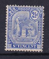 St Vincent: 1909/11   Emblem (insc. 'Postage Revenue')   SG105     2½d   MH - St.Vincent (...-1979)