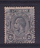 St Vincent: 1913/17   KGV    SG110a     2d  Slate   Used - St.Vincent (...-1979)