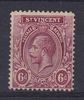St Vincent: 1913/17   KGV    SG115     6d    MH - St.Vincent (...-1979)