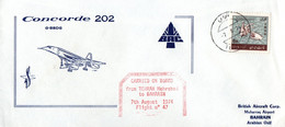 Concorde 202 - 1974 - Flight From Teheran To Bahrain - Tehran Bahrein Iran - BAC - Bahrein (1965-...)