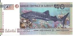 DJIBOUTI 40 FRANCS 2017 UNC P 46 - Djibouti