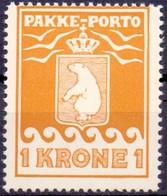 Groenland 1937 1kr L.H Schultz Var E In KRONE PF-MNH - Gebraucht