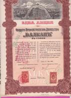 261739 / Bulgaria 1929 - 100 Leva General Re Insurance Company Balkan - Sofia , Share Action Akte , Revenue Fiscaux - Bank & Insurance