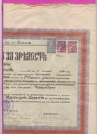 261746 / Bulgaria 1939 - 10 Leva (1938) +50+50 School Building Fund Revenue , Diploma - First Girls' High School , Sofia - Diploma & School Reports