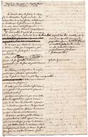 1V3Gp  Manuscrit Demande Suppression Impot Foncier Grasse Suite à Gelée Des Fruitiers Et Oliviers 02/1820 Déscription - Manuscripts