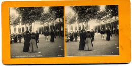 Photo Stéréoscopique - Vichy -  Le Parc Et La Salle De Repos N° 7 ( I  157) - Stereoscopic