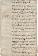 1V3Gp  Manuscrit état Des Lieux Gelée De Janvier 1820 Oliviers Figuiers Fruitiers Grasse Et Environs - Manuscripts