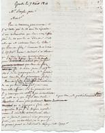 1V3Gp  Manuscrit De 1814 De Grasse Mr Bayle - Manuscripts