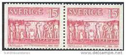 ZWEDEN 1960 15õre 100 Jaar Schutterij Paar PF-MNH - Nuevos