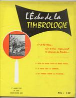 Timbrologie.timbres En Faveur De La Lutte Contre Le Paludisme.jeune Philatélie Le Timbre Et La Mer.Timbres Préoblitérés - Francesi (dal 1941))