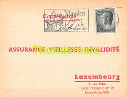 ASSURANCE VIEILLESSE INVALIDITE LUXEMBOURG 1973 VIANDEN KRIER WILMES - Lettres & Documents