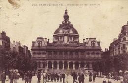 SAINT ETIENNE  Place De L'Hotel De Ville RV Cachet 38e Reg D'Infanterie Service Postal Depot Vers Maureilhan Herault - Saint Etienne