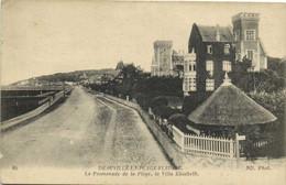 DEAUVILLE LA PLAGE FLEURIE  La Promenade De La Plage , La Villa Elisabeth RV Cachet Hopital Complementaire N°31 - Deauville