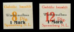 LOKAL AUSG 1945 SPREMBERG Nr 7B-14B Postfrisch X80F2D2 - Ohne Zuordnung