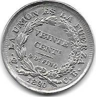 *bolivia 20 Centavos 1890cb  Km 156.2   Xf+/ms60 - Bolivia