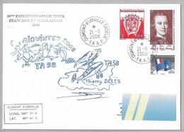 CN5-TAAF-PO324/494/454 Alban De St Aloüarn 21.6.2008 Sur Pli MIDWINTER 58è EXPEDITION - Hélico DISTA Signé. - Cartas