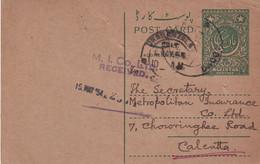 PAKISTAN 1954  ENTIER POSTAL/GANZSACHE/POSTAL STATIONARY CARTE - Pakistan