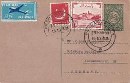 PAKISTAN 1959   ENTIER POSTAL/GANZSACHE/POSTAL STATIONARY CARTE DE PESHAWAR - Pakistan