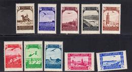 Maroc Espagnol 1938 Poste Aerienne Yvert 1 / 10 * * Neufs Sans Charniere. - Marruecos Español