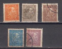 Islande 1902 Yvert 34, 37, 39, 40, 42 Obliteres. Christian IX. - Gebraucht