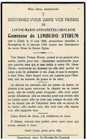 GENT / ANZEGEM - Louise Gravin De LIMBURG STIRUM - °1866 En +1948 - (Franstalig) - Devotion Images