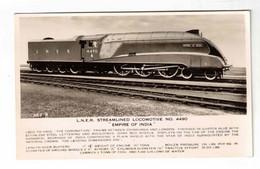 "England, ""L. N. E. R. Streamlined Locomotive # 4490, ""Empire Of India"", 1942 Real Photo Postcard - Treinen"