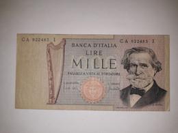 REPUBBLICA ITALIANA BANCONOTA LIRE 1000 G. VERDI - 1000 Lire