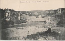 P16-23) BONNAT (CREUSE) RUINES DE MALVAL - VUE GENERALE - (ANIMEE - PERSONNAGE - 2 SCANS) - Other Municipalities