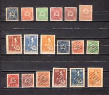 Georgia   1919-20  .-   Y&T  Nº   4/9-16/18-19/27   *   ( C/charniere )   (a) - Georgia