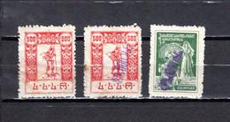 Georgia   1922-23  .-   Y&T  Nº   31-38-39 - Georgia
