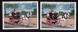 France 1517 Variété Tableau  Trou Blanc Dans L'arbre Et Normal Rousseau Neuf ** TB MNH Sin Charnela - Varieties: 1960-69 Mint/hinged
