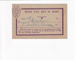 Herinneringskaart Bond Van Het H. Hart - Bondsmis - Religion &  Esoterik