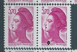 [47] Variété : N° 2486a Type Liberté DELACRO X Tenant à Normal ** - Varieteiten: 1980-89 Postfris