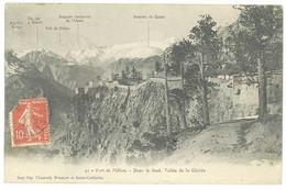 Cpa Fort De L'Olive - Dans Le Fond, Vallée De La Clarée - Andere Gemeenten