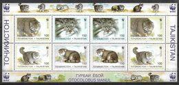 TAJIKISTAN WWF SOUVENIR SHEET ON CAT MNH - Tajikistan