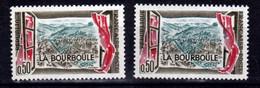 France 1256 Variété Ville Vert Bleu Et Normal La Bourboule  Neuf ** TB MNH Sin Charnela - Varieties: 1960-69 Mint/hinged