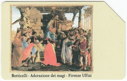 ITALY H-014 Magnetic Telecom - Culture, Painting, Botticelli - Used - Public Ordinary