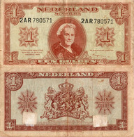 Netherlands / 1 Gulden / 1945 / P-70(a) / VF - Unclassified