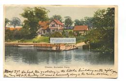 Eccleston Ferry, Chester - 1903 Used Postcard, Chester Station Office Postmark - Chester