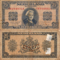 Netherlands / 2,50 Gulden / 1945 / P-71(a) / FI - Unclassified