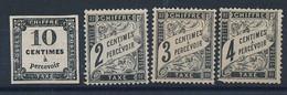 DZ-228: FRANCE: Lot Avec Taxes NSG   N°2-11-12-13 - 1859-1955 Mint/hinged