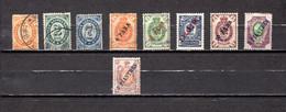 Rusia  Despacho De Levante   1884-1910    Y&T  Nº    22/23-25-26/28-30-31/32 - Levant