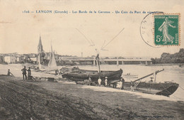 Les Bords De La Garonne - Un Coin Du Port De Réparation (acrobate) - Langon