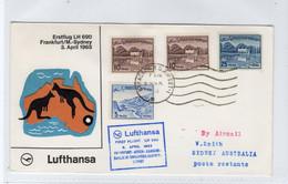 PAKISTAN: 1965 Lufthansa First Flight Cover To Australia (S327) - Pakistan