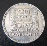 France - Monnaie 20 Francs Turin 1933 RL En Argent - L. 20 Francs