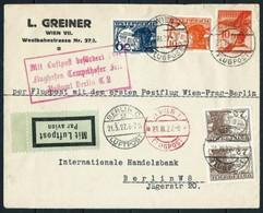 Austria (S) Frontal De Carta FLUGPOST Año 1927 - Covers & Documents
