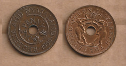 RHODESIA AND NYASALAND   1 Penny  1955  Bronze • 6.3 G • ⌀ 27.0 Mm KM# 2, Schön# 33 - Rhodesia