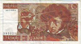 BILLET 10 FRANCS BERLIOZ - Du 6 Juillet 1978 - état 7/10 - 10 F 1972-1978 ''Berlioz''